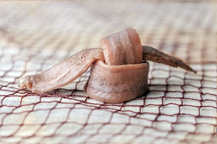 Anchoas de Getaria Salanort. Filetes de anchoa del Cantábrico en salazón con aceite oliva elaboradas de forma artesanal.