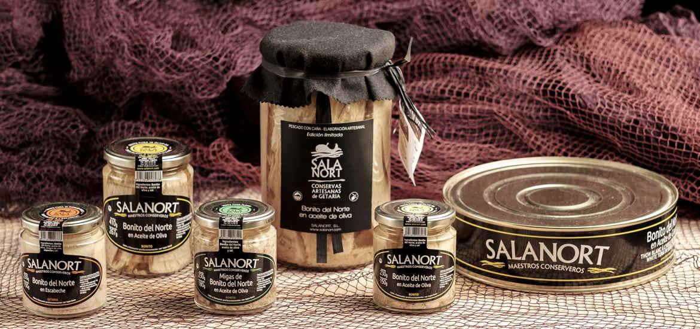 Bonito del Cantábrico Salanort en aceite de oliva, varios formatos.