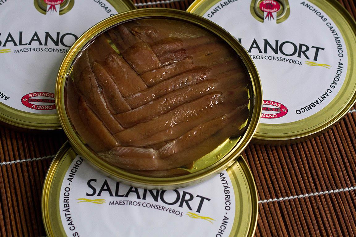 Anchoas del Cantábrico en aceite de oliva  baja en sal