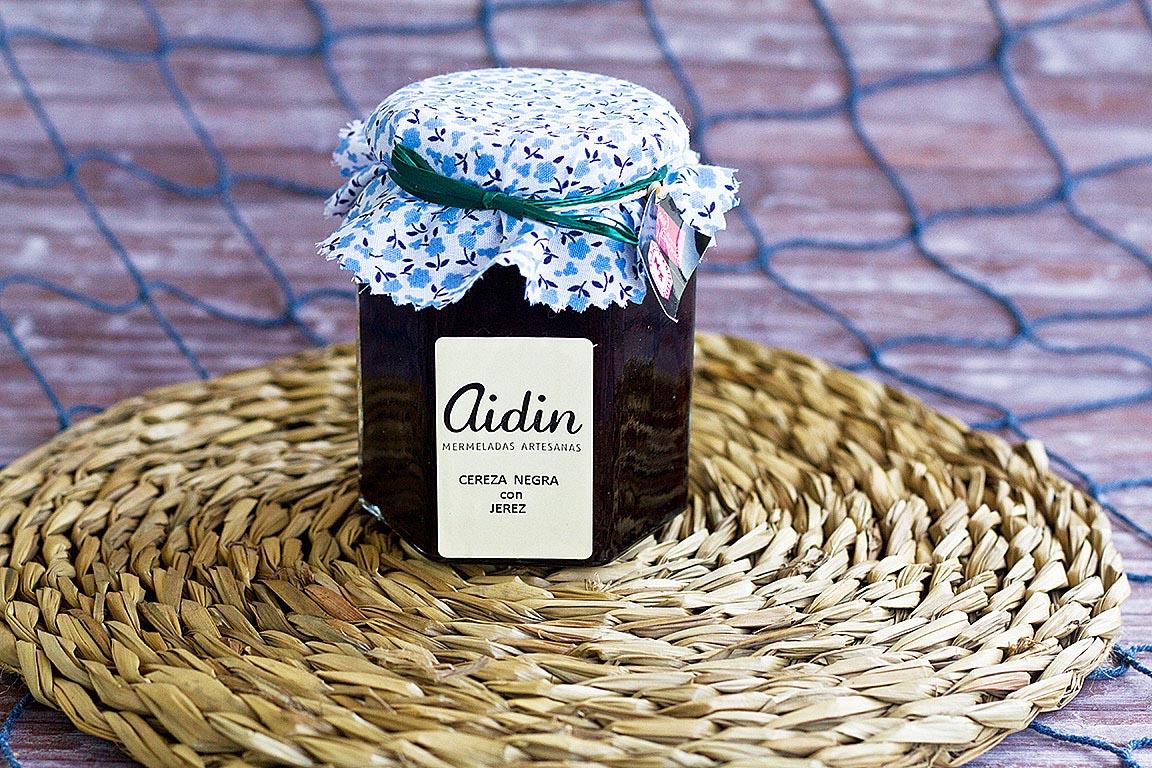 Mermelada de cereza negra con jerez AIDIN 305grs