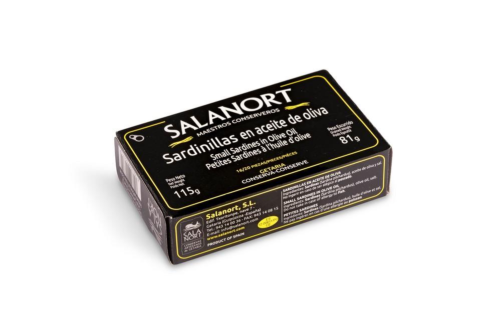 Sardinillas en aceite de oliva Salanort 115 gr.