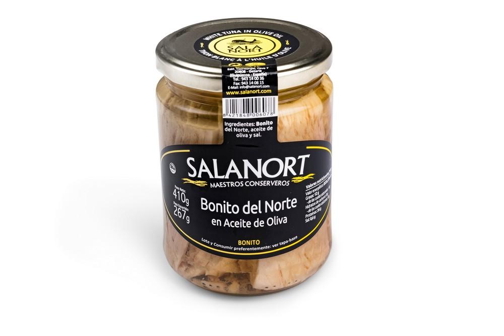 Bonito del Norte Salanort en aceite de oliva 410 gr.