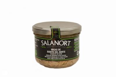 Migas de bonito del norte Salanort en aceite de oliva 230 gr.