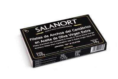 "Anchoas del Cantábrico Salanort ""00"" en aceite de oliva virgen extra 120 gr."