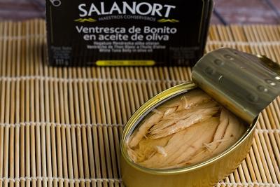 Ventresca de bonito del norte Salanort en aceite de oliva 111 gr.