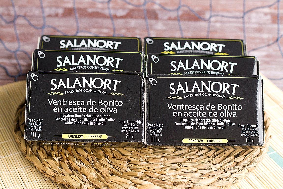 Lote de 6 latas de ventresca de bonito en aceite de oliva