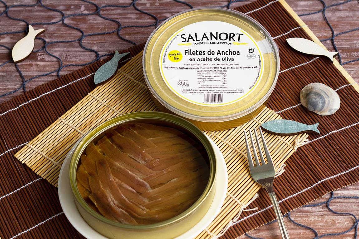 Lote 2 latas de Anchoa del Cantábrico Salanort Deluxe